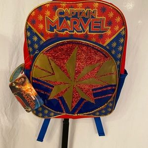 Captain marvel 16 inch backpack new
